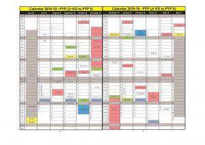 PYP Calendar 2019-20