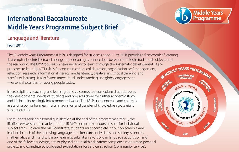 IB MYP Subject Brief