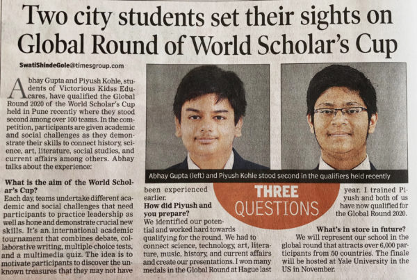 World Scholar's Cup TOI